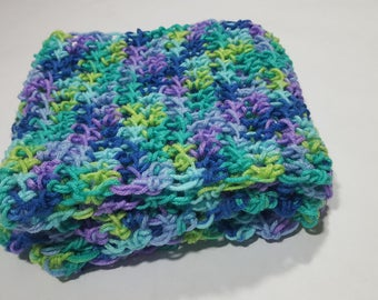 Super soft, extra bulky hand crocheted scarf