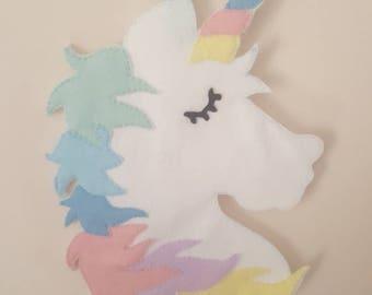 Unicorn wall decor, unicorn decor, hanging unicorn decor, hanging unicorn head, pastel unicorn head, unicorn head room decor, unicorn decor