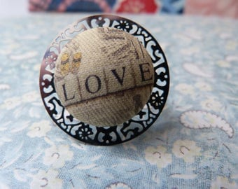 Love ring button