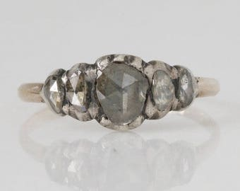 Excellent Georgian 5 Stone Diamond Ring