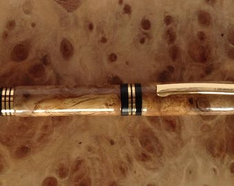 Churchill Fountain Pen White Oak burl