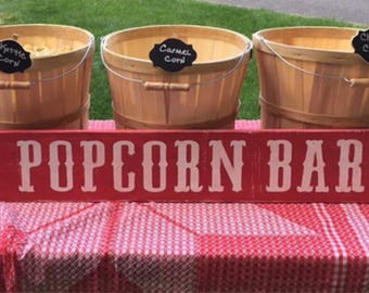 Popcorn Bar Sign