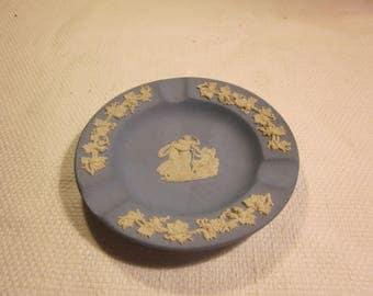 Vintage Wedgwood Jasperware ashtray, blue jasperware