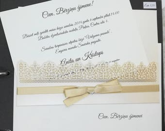 Beige Wedding Invitation, Wedding invite, invitation, weddings, laser cut, invitation set, romantic wedding, laser cut invitation