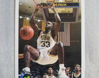 SHAQ Rookie Card - Shaquille  O'Neal - Los Angeles Lakers - LSU Tigers, LA Lakers, Orlando Magic - Lakers Gift - Basketball Cards