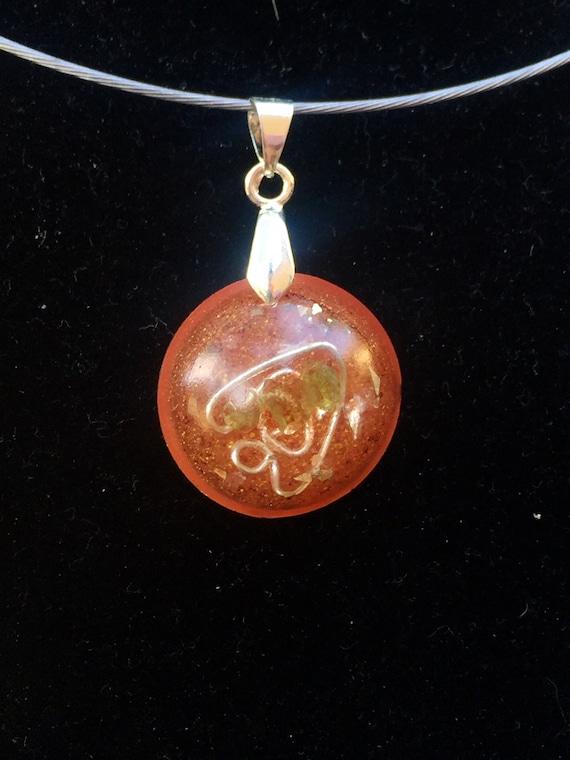 Dark Arts Protection Peridot Orognite® Charm- Nightmare and Curse Shield Orgone Energy Generator Necklace- Orgonite® Pendant