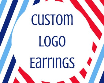 Custom Logo Earrings- Custom Earrings- Military Spouse Gift- Small Business