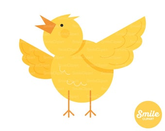 Easter Chicken Clipart Illustration for Commercial Use | 0538