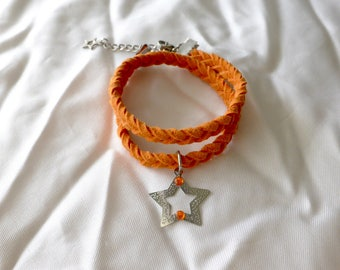 Bracelet suede star Choker necklace
