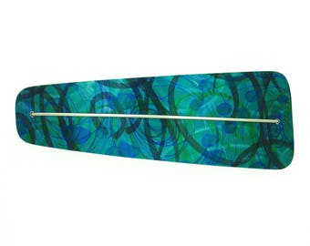 Lime blue aqua hair clip, anodized aluminum