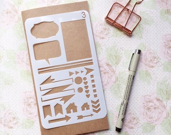 Bullet Journal Stencil #3 - Planner, Journal, Craft, Scrapbooking, Decoration