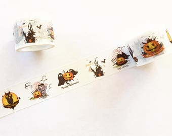 Halloween Pumpkin Washi Tape - Planner, Journal, Craft, Scrapbooking, Decoration