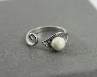 DIY Breast Milk Sterling Silver Pearl Calla Lily Ring Kit, Do it Yourself DNA Breastmilk keepsake