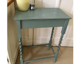 Vintage Occasional Table with Barley Twist Legs