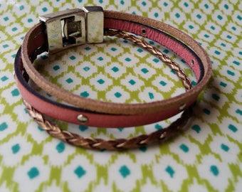 leatherbracelet 3 rows