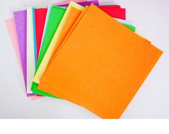 Bloc  90 feuilles Multicolore pour scrapbooking et origami 10x10cm