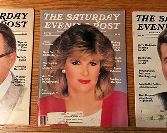 3 issues Saturday Evening Post