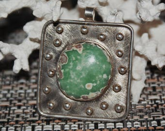 Variscite (Lucin) Sterling Silver Handmade Pendant by Susan