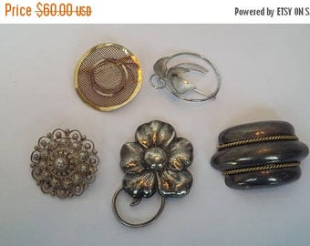 35% Off Five Sterling Silver Brooches