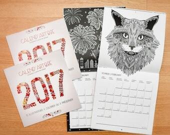PACK 2 Calendriers à COLORIER - Calend'Art&Be 2017