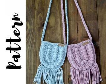 Crochet Bag Pattern, Crochet Purse Pattern, Crochet Boho Bag Pattern, Crochet Toddler Purse Pattern, DIGITAL DOWNLOAD