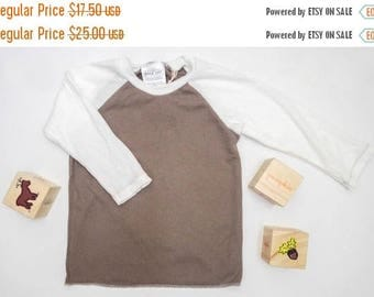 50% OFF - SALE - Raglan Thermal - Stone & Off White