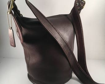 Coach Bag / Vintage Coach Legacy Bag / Coach Helen's Legacy Bag / Black Leather Shoulder Bag /Bucket Bag / Crossbody / HOBO / Style 9953