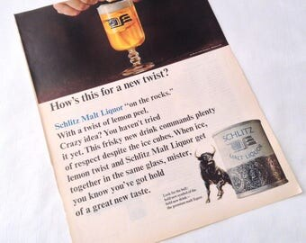 Vintage Schlitz Malt Liquor - 1966 Life Magazine Ad