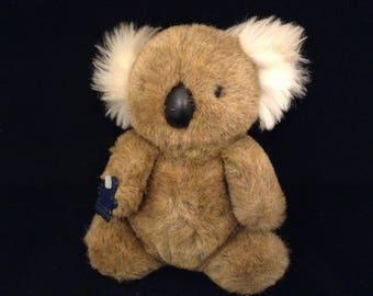Vintage Koala Bear Plush- Stuffed Animal Koala Bear 1986- Vintage Applause Toy Plush