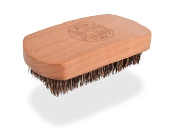 Beechwood Boar Bristle Beard Brush by Beaver Scooter