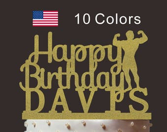 Personalized Happy Birthday Cake Topper, Custom Vigorous Cake Topper, Cardstock Cake Topper, Create Your Own! Custom Name, Any Name, PT006