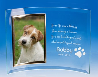 Dog Memorial Photo Frame, Pet Memorial Frame, Pet Loss Picture Frame, Pet Loss Gift, Loss of Dog Gift, Pet Memorial, Pet Sympathy Gift