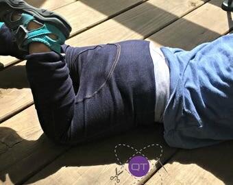 Stretch Denim Maxaloones // Grow with me Pants // Cloth Diaper Pants // Adjustable Child Pants // Jeggings // Jeans // Toddler Pants