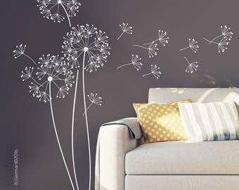Walltattoo, 151cm High, dandelion Wall sticker wall sticker Home Wall sticker sticker Creative Decoration w317b