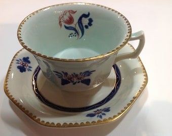 Adams Calyx Ware Cup and Saucer, Pattern 2609