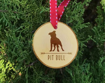 Pit Bull Christmas Ornament, Pit Bull Dog Ornament, Pit Bull Breed, Christmas Ornament, Pit Bull Gift