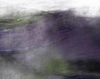 Original drawing, limited edition art print, purple, green, grey. Unique artwork, signed and numbered. Available in 4 formats.