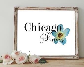Chicago Illinois Digital Print