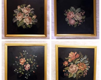 Framed Needlepoint pictures