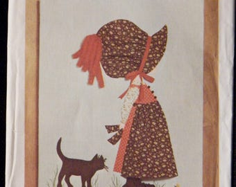 Vintage Holly Hobbie Transfer for Wall Hanging Simplicity 6544