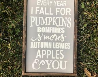 Every year i fall, halloween sign, fall sign, fall decor