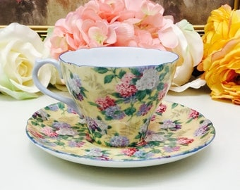 """Shelley """"Blossom Time"""" teacup and saucer"""