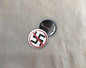 Anti Nazi Button | Buttons | Pins | Punk Button | Punk Pin | Pinback Pins | Iron Front Button | Anarchy Pin | AntiNazi Button | Equality Pin