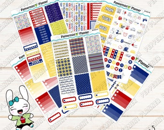 Police Weekly Planner Kit --- Planner Stickers --- For use with the Erin Condren Vertical --- 05