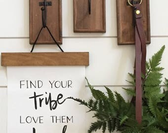Find your Tribe Canvas wall Hanging