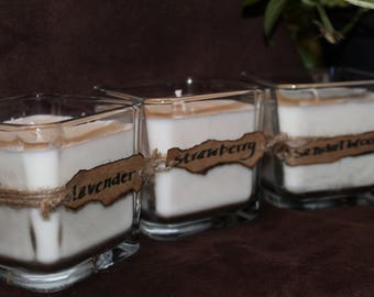 8 oz Open Square Container Soy Wax Candle
