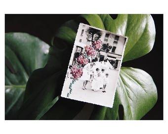 "Unique - vintage photography No. 15 ""Softness"" - cross stitch - hand embroidered June B. Kitsch - JBK"