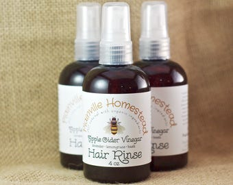 Organic Apple Cider Vinegar Rinse || Vinegar Hair Rinse || Herbal Hair Rinse || Organic Hair Rinse