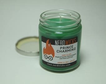 Prince Charming - Fairy Tale Inspired Soy Candle - Birch and Black Pepper Scent