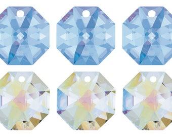 4 Swarovski Crystal 8115 Octagon Pendant 14mm Pick You Colour